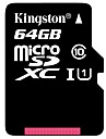 Kingston 64GB Micro SD-kort TF-kort minneskort UHS-1 class10