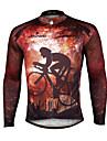PALADIN® Cykeltröja Herr Lång ärm CykelAndningsfunktion / Snabb tork / Ultraviolet Resistant / Reflexremsa / Back Pocket / Minskar