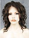14\'\'hot imstyle vendant dentelle synthetique a ondes courtes brun perruques avant la chaleur fibre resistante