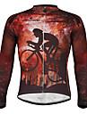 PALADIN® Maillot de Cyclisme Homme Manches longues VeloEtanche / Respirable / Pare-vent / Doublure Polaire / Isole / Bandes