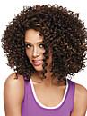 Capless korta afro kinky bobo syntetiska peruker för kvinnor blanda brun guldvärmetålig med gratis hårnät