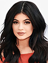 Kylie Jenner heta försäljning klädstil peruk populära sexig långt vågigt djup brun värmetåliga syntetiska peruker modefest frisyr