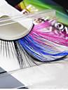 2 Cils Cil Cils Entiers Colore Etendu Cils courbes Gloss colore Manuel(le) Autres Bande Noire 0.10mm 15mm