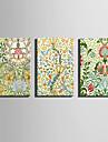 toile set A fleurs/Botanique Modern,Trois Panneaux Toile Verticale Imprimer Art Decoration murale For Decoration d\'interieur