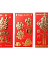 högvärdigt guld röd kuvertväska (slumpvis tre en uppsättning av design och färg)