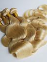 Förfärgad hår väver Brasilianskt hår Kroppsvågor 12 månader 4 delar hår väver