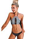 Femei Bikini Femei Cu Susținere Geometrică Nailon Spandex