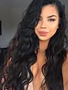 130% densitet vågigt 100% jungfruliga brasilianska människohår spets front peruker för svarta kvinnor med barn hår