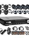 Ultra Low Price 8CH H.264 CCTV DVR Kit (8 CMOS Nightvision Cameras)