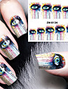 1 Nail Art Sticker Vatten Transfer Dekaler makeup Kosmetisk Nail Art Design