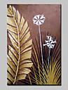 Peint a la main A fleurs/Botanique Paysages Abstraits Peintures a l\'huile,Moderne Un Panneau Toile Peinture a l\'huile Hang-peint For