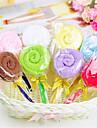 födelsedagspresent klubba form fiber kreativa handduk (slumpvis färg)
