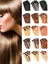 anna 7PCS pince bresilien dans les extensions de cheveux humains clip cheveux raides bresilien en extension 70g faisceaux de cheveux