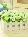 Gren Silke Plast Roser Bordsblomma Konstgjorda blommor #(16*10*16 cm(6.3*3.9*6.3 in))