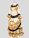Outfits Gotisk Lolita Victoriansk Cosplay Lolita-klänning Enfärgat Dolman Lång ärm Asymmetrisk Topp Kjol För Charmeuse