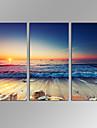 canvas Set Abstrakta landskap Moderna,Tre paneler Kanvas Horisontell Print Art väggdekor For Hem-dekoration