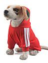 Hundar Huvtröjor / Jumpsuits Röd / Gul / Blå / Svart / Rosa / Grå / Flerfärgad Hundkläder Vinter / Vår/Höst Enfärgat Sport / Håller värmen