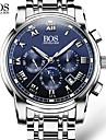 AngelaBOS Bărbați Ceas Elegant Ceas La Modă Ceas de Mână Quartz Calendar Oțel inoxidabil Bandă Casual Alb Alb Negru Albastru