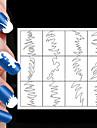 24st olika storlekar professionell göra mönster nagel konst verktyg # 04