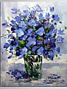 Pictat manual Abstract / Floral/Botanic Picturi de ulei,Modern / Pastoral Un Panou Canava Hang-pictate pictură în ulei For Pagina de