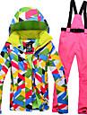 Tenue de Ski Anorak pour Ski/snowboard Ensemble de Vetements/Tenus Femme Tenue d\'Hiver Polyester Vetement d\'HiverEtanche Garder au chaud