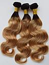 A Ombre Cheveux Bresiliens Ondulation naturelle 12 mois 3 Pieces tissages de cheveux