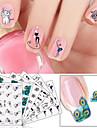 6pcs Nail Sticker Art Autocollants de transfert de l\'eau Maquillage cosmetique Nail Art Design
