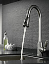 Nutida Utdragbar / Pull-down Horisontell montering Utdragbar dusch with  Keramisk Ventil Singel Handtag Ett hål for  Nickelborstad ,