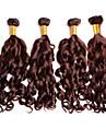 Tissages de cheveux humains Cheveux Bresiliens Ondulation profonde 4 Pieces tissages de cheveux