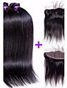 Tissages de cheveux humains Cheveux Bresiliens Droit 4 Pieces tissages de cheveux