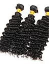Human Hår vävar Brasilianskt hår Stora vågor 6 månader 3 delar hår väver