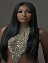 pleine perruque de dentelle brazilian yaki de cheveux humains perruque droite vierge pour les femmes afro-americaines
