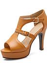 Femme-Mariage Habille Soiree & Evenement-Blanc Gris Jaune-Talon Cone-club de Chaussures-Sandales-Similicuir