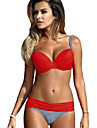 Femei Bikini Femei Cu Susținere Monocolor Polyester Spandex