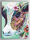 Pictat manual Abstract Animal Vertical,Modern Un Panou Canava Hang-pictate pictură în ulei For Pagina de decorare