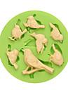Prima clasa 7 cavități minunate păsări fondant mucegai silicon cu preț competitiv culoare aleatoriu