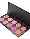 1Pcs 10 Colors Blush Palette Makeup Naked Blusher Bronzer Powder Palette Brand New Face Cosmetics Make Up Shimmer Matte