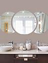 Forme Stickers muraux Miroirs Muraux Autocollants Autocollants muraux decoratifs,Vinyle Materiel Decoration d\'interieur Calque Mural