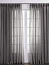 Två paneler Fönster Behandling Rustik , Solid Vardagsrum Linne/Polyesterblandning Material Skira Gardiner Shades Hem-dekoration For