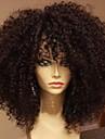 vierge sans colle de cheveux pleine dentelle perruques de cheveux humains bresilien pour les femmes noires crepus boucles perruque