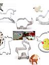 Moule de Cuisson Cartoon 3D Animal Pour Gateau Pour Cookie Pour Tarte Acier Inoxydable Bricolage Haute qualite