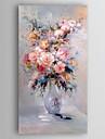Pictat manual Floral/Botanic Vertical,Modern Un Panou Canava Hang-pictate pictură în ulei For Pagina de decorare