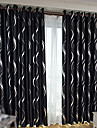 Deux Panneaux Le traitement de fenetre Moderne Salle de sejour Polyester Materiel Rideaux occultants rideaux Decoration d\'interieur For