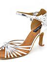 Latin Jazz Salsa Swing-Pantofi de dans(Argintiu) -Personalizabili-Damă