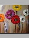 Peint a la main A fleurs/Botanique Carre,Moderne Classique Un Panneau Toile Peinture a l\'huile Hang-peint For Decoration d\'interieur