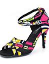 Chaussures de danse(Rose / Blanc) -Personnalisables-Talon Personnalise-Satin-Latines Jazz Salsa Chaussures de Swing