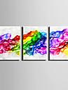 toile set Abstrait Fantaisie Moderne,Trois Panneaux Toile Verticale Imprimer Art Decoration murale For Decoration d\'interieur