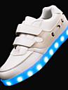 Băieți Adidași Primăvară Vară Toamnă Iarnă Noutăți Confortabili PU Outdoor Casual Atletic Toc Plat Bandă Magică LED Negru Alb Plimbare