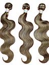 Human Hår vävar Brasilianskt hår Kroppsvågor 6 månader 3 delar hår väver