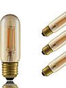 E26/E27 Bec Filet LED T 4 COB 350 lm Amber Intensitate Luminoasă Reglabilă Decorativ AC 220-240 V 4 bc